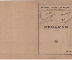 _0785 063 569, CONSTANTA - vand Program Program Musik-Hall, 100 RON